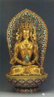 Gilt bronze Bodhisattva, Qing Dynasty
