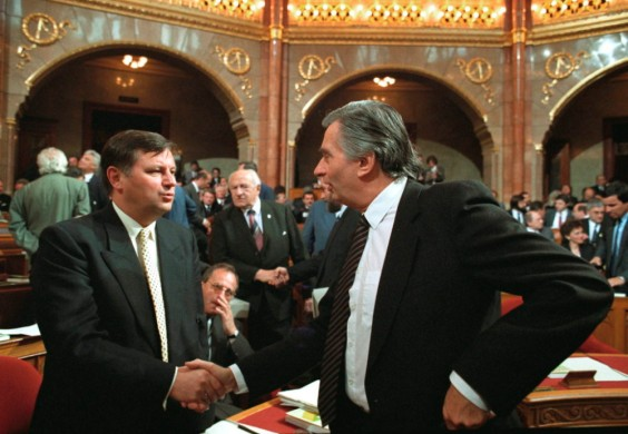 Miklos Nemeth and Jozsef Antall
