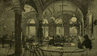 Pilvax cafe in 1848