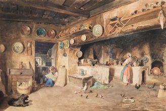 Sterio Károly: Parasztkonyha, 1854