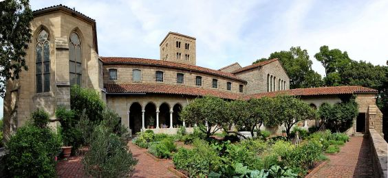 Cloisters from Garden (New York, Manhattan)