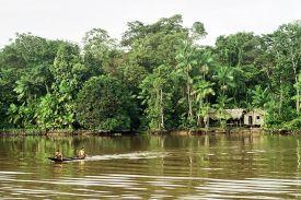 An average riverfront Amazon house