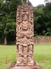 Mayan stele in Copan
