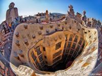 Calvet House by Antoni Gaudi in Barcelona