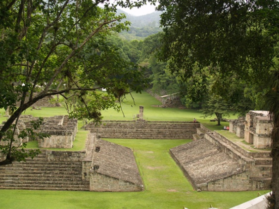 the ball field in Copan