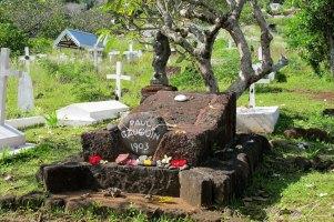 Tomb of Paul Gauguin on the island of Hiva Oa