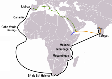 Vasco da Gama's journey to India