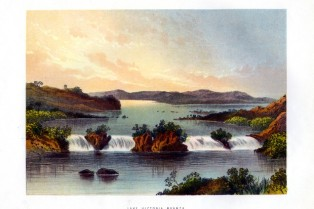 'Lake Victoria Nyanza', c1840-1900. Lake Victoria is 68,800 square kilometres (26,560 square miles) in size, making it the continent's largest lake, the largest tropical lake in the world, and the second largest fresh water lake in the world in terms of surface area. Located between Tanzania, Uganda and Kenya, in 1858 it was documented by Richard Speke, in his search for source of the River Nile. (Photo by The Print Collector/Print Collector/Getty Images)