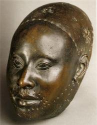 Yoruba bronze head
