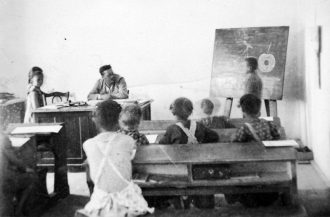 Classroom, studying in 1935