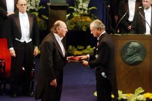 Imre Kerész at the Nobel Prize ceremony