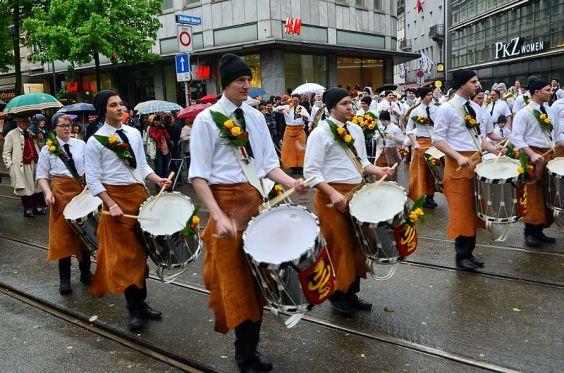 Spring festive parade in Zurich