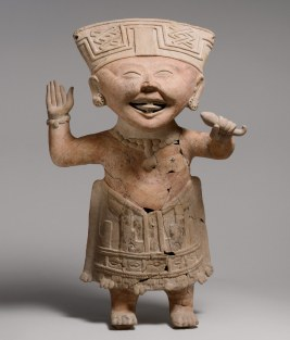 A ceramic figure from the Veracruz culture that radiates an ancient Mexican style