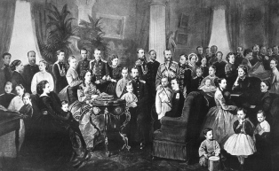 The Romanov family around 1870