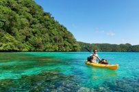 Palau exploring kayaking