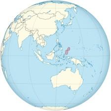 Palau on the globe