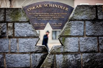 Monument to Oskar Schindler in Svitavy