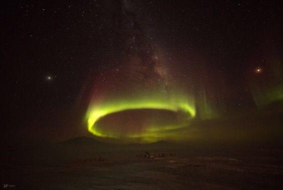 polar light in Antarctica