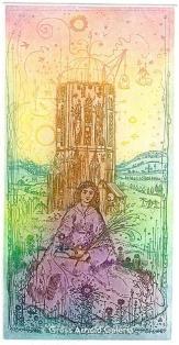 Jan van Eyck memorial card by Arnold Gross