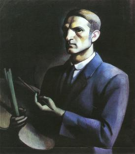 János Kmetty: Palette self-portrait 1912 Oil on canvas, 91 x 79 cm Deák Collection, City Gallery, Székesfehérvár