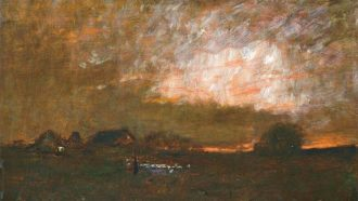 Sunset by Mihaly Munkacsy