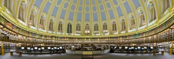 The reading room of the British Library