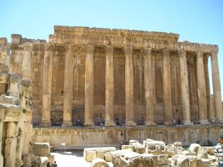 Remains of the Roman church of Bacchus in Baalbek