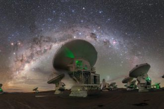 ALMA radio telescope system in the Atacama Desert