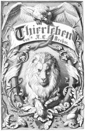 Internal cover of Brehm: Thierleben (The World of Animals). Illustration by Fedor Flinzer (1832-1911)