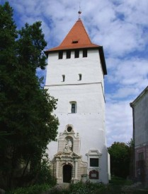 The renovated Truncated Tower in Salonta