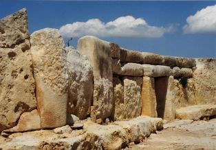 Remains of a megalithic church in Malta