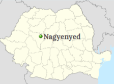 Nagyenyed's position on the map of Romania