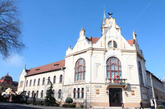 The Art Nouveau town hall designed by László Székely in Salonta