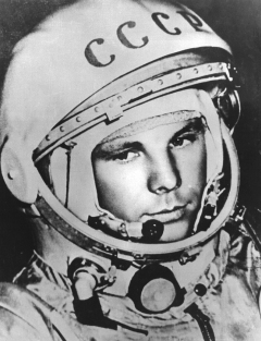 Yuri Gagarin is a Soviet-Russian astronaut, the first man in outer space