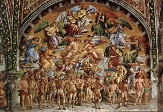 The scene of Paradise, Last Judgement in Orvieto | la vie boheme travel