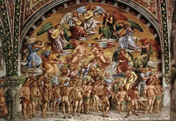The scene of Paradise, Last Judgement in Orvieto | la vie boheme travel