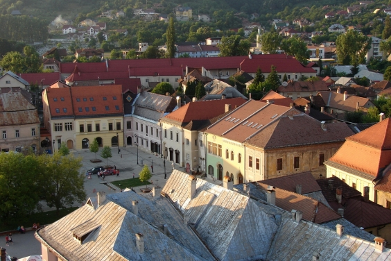 Baia Mare's main square from St. Stephen's Tower
