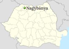 Baia Mare on the map of Romania