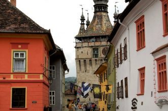 The historic center of Sighisoara, the Clock Tower
