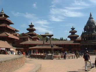 Hindu temple district in Patan