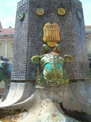 The Zsolnay Fountain in Pécs (detail)