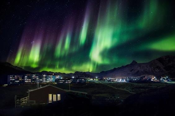 Aurora Borealis phenomenon in Greenland