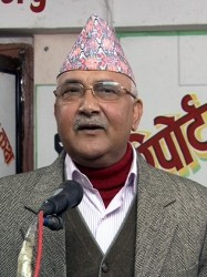 Khadga Praszad Sarmá Olí, Prime Minister of Nepal from 2015-2016 and again since 2018.