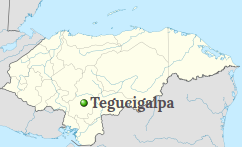 Location of Tegucigalpa
