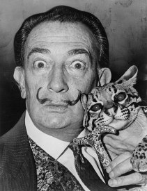 Salvador Dali with an ocelot (1965)