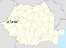 Arad in Map