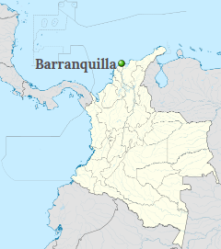Barranquilla Position on the map of Colombia