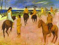 Paul Gauguin: Riders on the beach