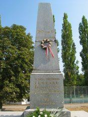 A memorial pillar of the martyrs of Arad