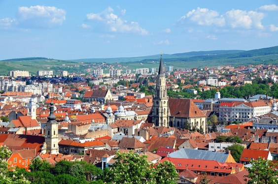 View of Cluj-Napoca from the hotel window